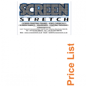 Screen Printing Supplies Catalogue